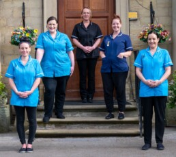 Some of the fantastic team at Walton Manor Care Home in Wakefield